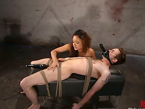 Pegging and Clothespin Torment in Female dom Domination & submission Vid with Annie Cruz