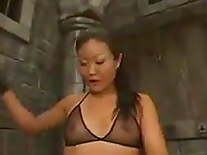 Lucy Lee the Asian mistress torments and fucktoys Jack