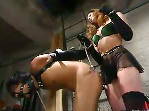 Imperious beauty Kym Wilde loves playing Bondage & discipline games with Saba
