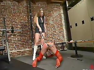 Joey Sommers gets his bootie bashed and fucked with a plaything by Princess Kali