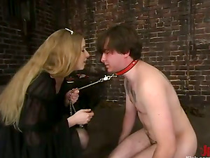 Neil gets abased and bashed by Princess Kali in a basement
