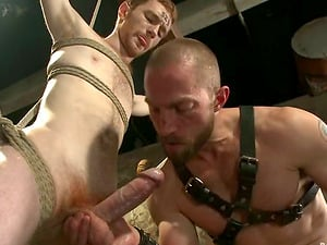 Restrain bondage and Dominance with Hot Faggot Fucky-fucky in Domination & submission Vid