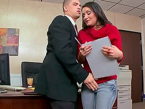 Bruce Venture Gets The Job By Fucking Her Future Chief At Her Interview