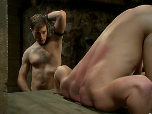 Two hot homosexuals love playing Sadism & masochism games in a basement