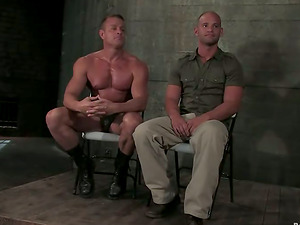 Chained Stud Getting Butt Spanked in Wild Faggot Domination & submission Movie