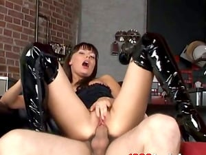Christey Charmane the hot honey in high boots gets plowed