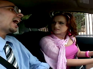 Pretty Cameron Love gets fucked by driving instructor