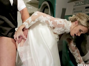Wedding hookup story with Angel Piaff in the laundry