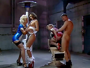 Ass-fuck Fucky-fucky in Kinky Nurse Costume play Four way with Three Tramps
