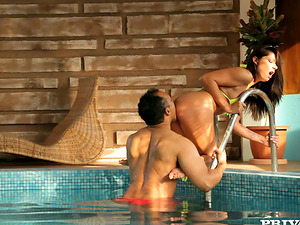 Beautiful Cipriana gets fucked nice and deep in indoor pool