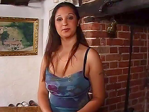 Big-boobed cougar Nila deepthroats two pricks while leaping on one more schlong