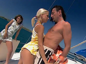 Boroka Nutsack and Sahara Knite get their vags gorgeously drilled on a boat