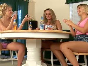 Poker night with three lusty lezzie mummies