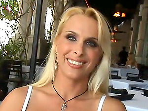 THis gorgeous platinum-blonde mummy is so ideal for a boob fucking